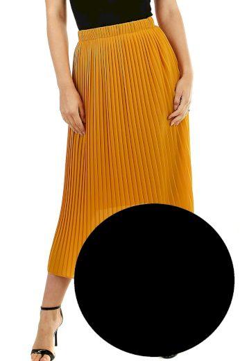 Glara Plisovaná midi sukně s menšími sklady 537298