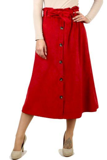 Glara Dámská manšestrová midi sukně 517792