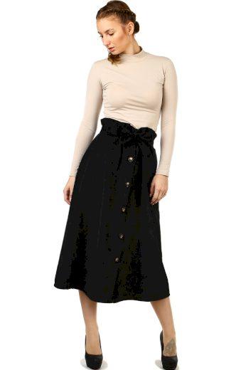 Glara Dámská manšestrová midi sukně 517796