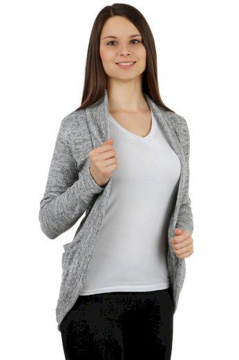 Glara Dámský elegantní kardigan s dlouhým rukávem 242048
