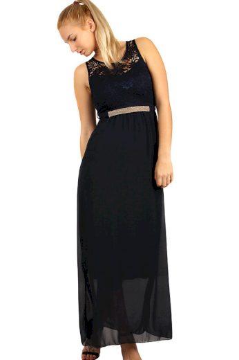 Glara Dlouhé večerní šaty s krajkovým vrškem 282765