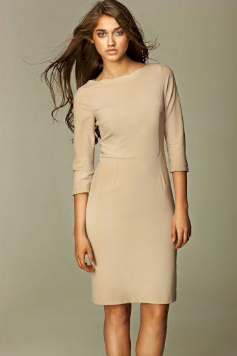 Glara Večerní pouzdrové šaty s 3/4 rukávem 417541