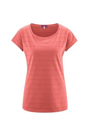 Glara Dámské tričko z organické bavlny děrovaný vzor 669556