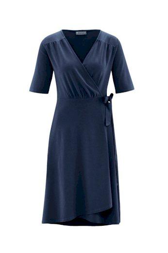 Glara Dámské zavinovací šaty s konopím 559046