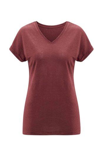 Glara Dámské letní tričko ze lnu 611140