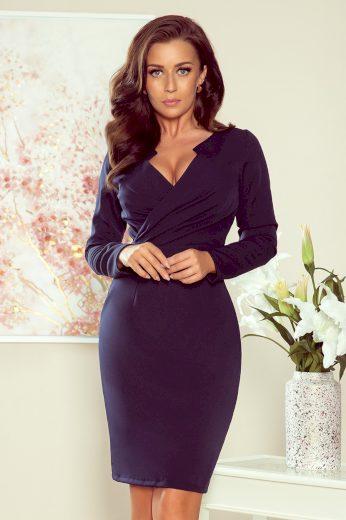 Glara Elegantní dámské šaty v zavinovacím vzhledu 661855