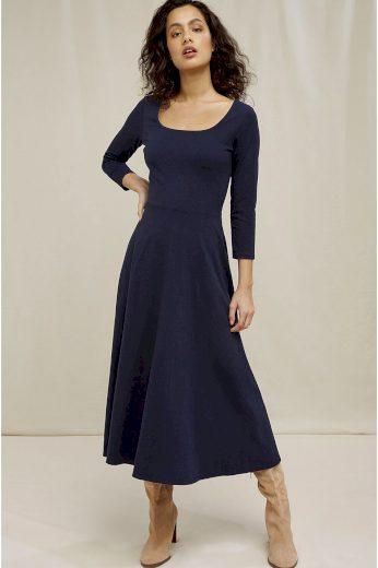 Glara Dámské dlouhé šaty z biobavlny 692883