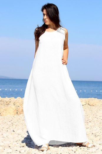 Glara Autorské české maxi šaty Lotika 100% len Premium quality 705796