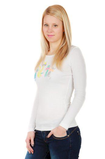 Glara Dámské bavlněné tričko s dlouhým rukávem 34072