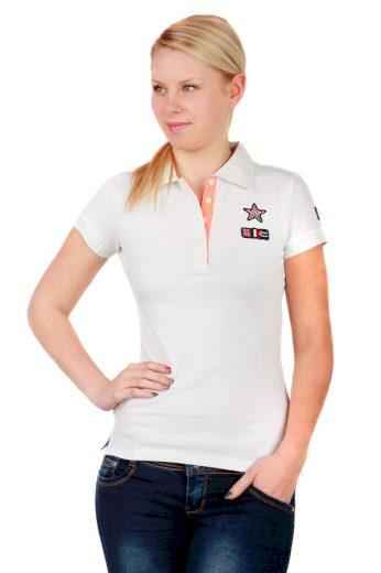 Glara Dámské bavlněné tričko s límečkem a krátkým rukávem 34299