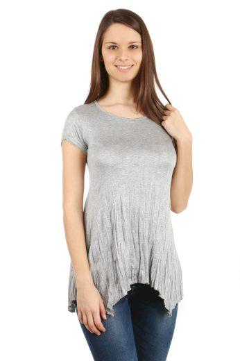 Glara Dámské delší tričko s krátkým rukávem 39881