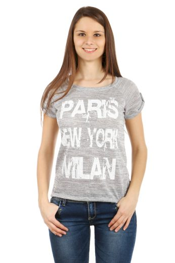Glara Dámské melírované tričko Paris 40496