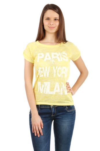 Glara Dámské melírované tričko Paris 40497