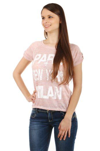 Glara Dámské melírované tričko Paris 40498