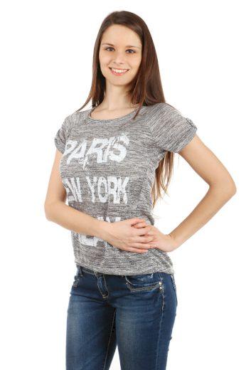 Glara Dámské melírované tričko Paris 40501