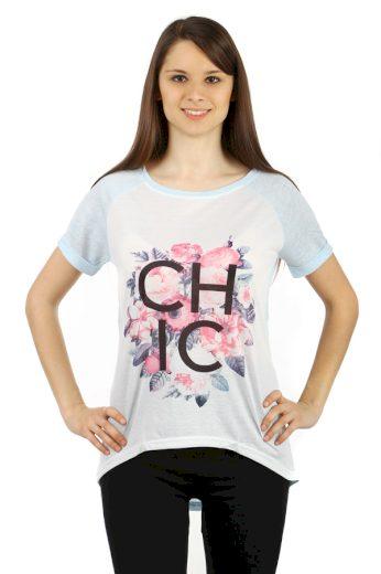 Glara Dámské volné tričko s potiskem 47057