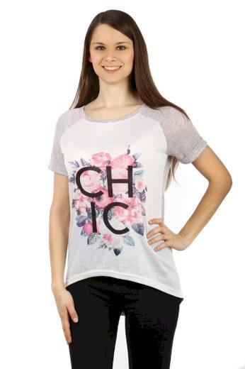 Glara Dámské volné tričko s potiskem 47065