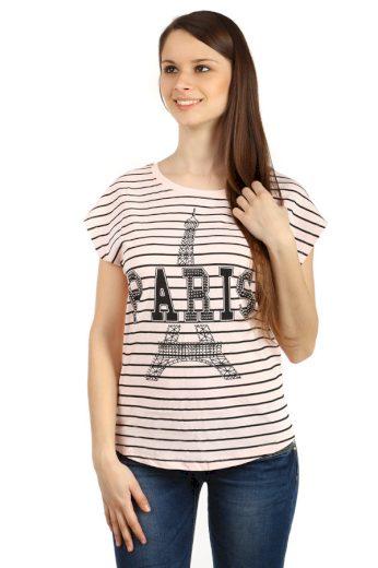 Glara Bavlněné dámské tričko Paris 48110