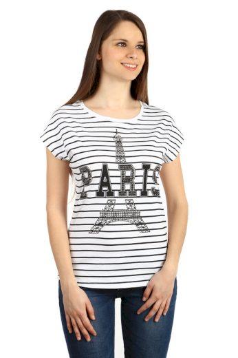 Glara Bavlněné dámské tričko Paris 48113