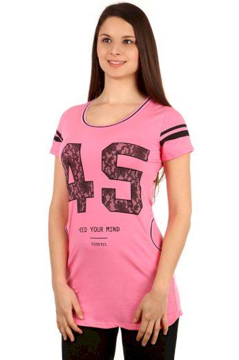 Glara Dámské tričko s krátkým rukávem a kapsami 108444
