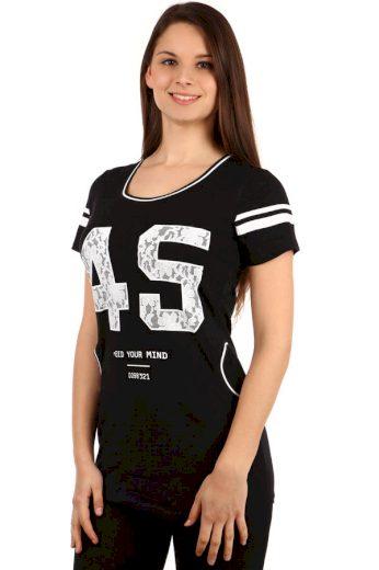 Glara Dámské tričko s krátkým rukávem a kapsami 108449