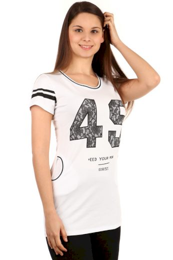 Glara Dámské tričko s krátkým rukávem a kapsami 108451