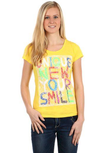 Glara Dámské barevné triko s nápisy 112627
