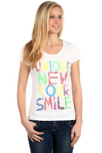 Glara Dámské barevné triko s nápisy 112641