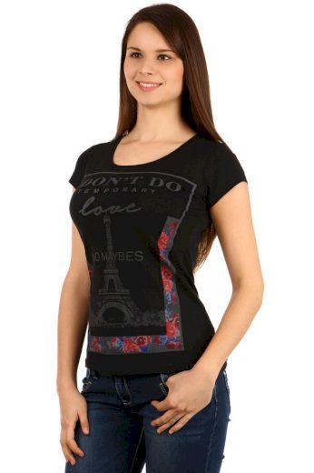 Glara Dámské tričko s Eifelovkou 117808