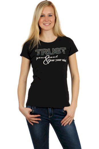 Glara Dámské tričko s kamínky 121287