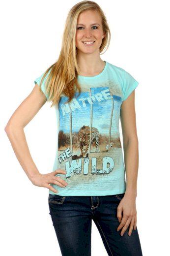 Glara Dámské letní tričko s potiskem 124497