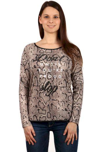 Glara Dámské triko s hadím vzorem 127481