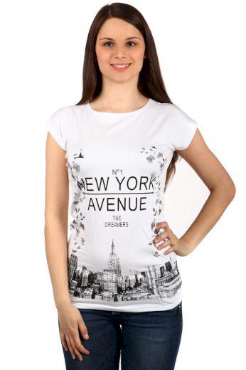 Glara Moderní dámské tričko s potiskem 131287