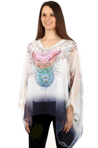 Glara Netradiční dámské volné tričko s potiskem 133808