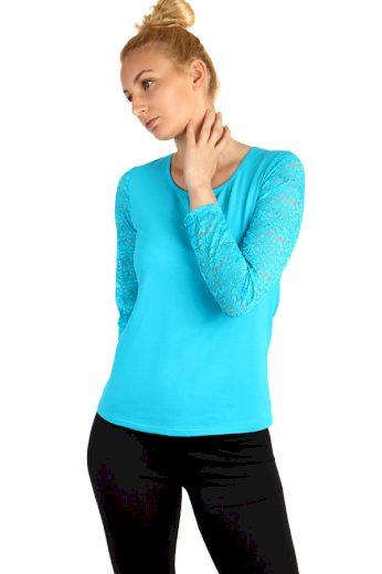 Glara Dámské tričko s krajkovými rukávy 220782