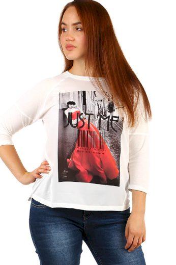 Glara Dámské tričko s moderním potiskem 249999