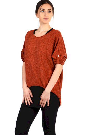 Glara Volné dámské tričko s tílkem 2v1 304321