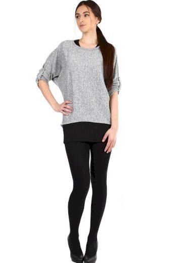 Glara Volné dámské tričko s tílkem 2v1 304322