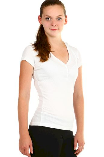 Glara Jednobarevné dámské tričko s kapucí 349045