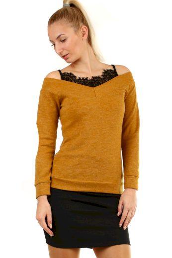 Glara Originální dámské krajkové tričko 404335
