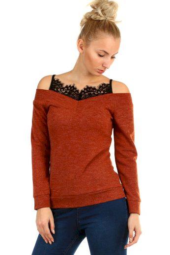 Glara Originální dámské krajkové tričko 404336