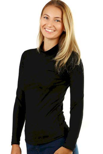 Glara Dámské jednobarevné tričko se stojáčkem 483714