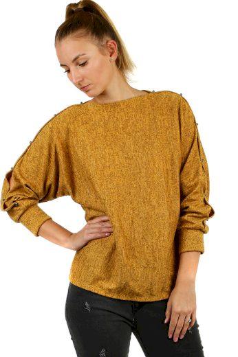 Glara Dámské mikinové tričko melírované 497320