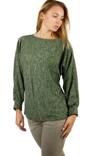 Glara Dámské mikinové tričko melírované 497323