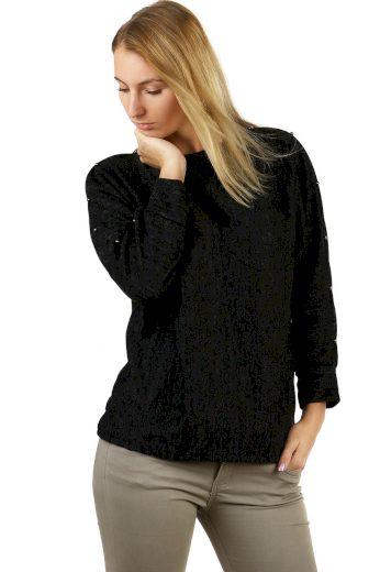 Glara Dámské mikinové tričko melírované 497325