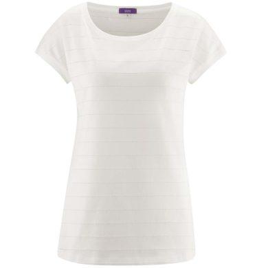 Glara Dámské tričko z organické bavlny děrovaný vzor 531340