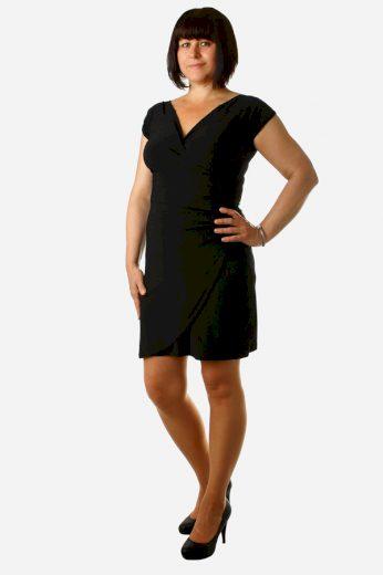 Glara Jednobarevné šaty se zavinovacím efektem 8558