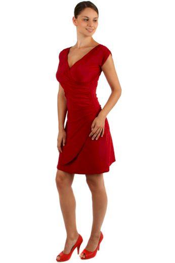 Glara Jednobarevné šaty se zavinovacím efektem 157358
