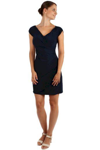 Glara Jednobarevné šaty se zavinovacím efektem 157367
