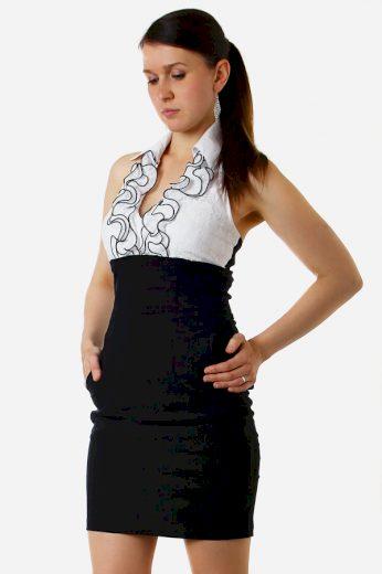 Glara Elegantní šaty s fiží 8582